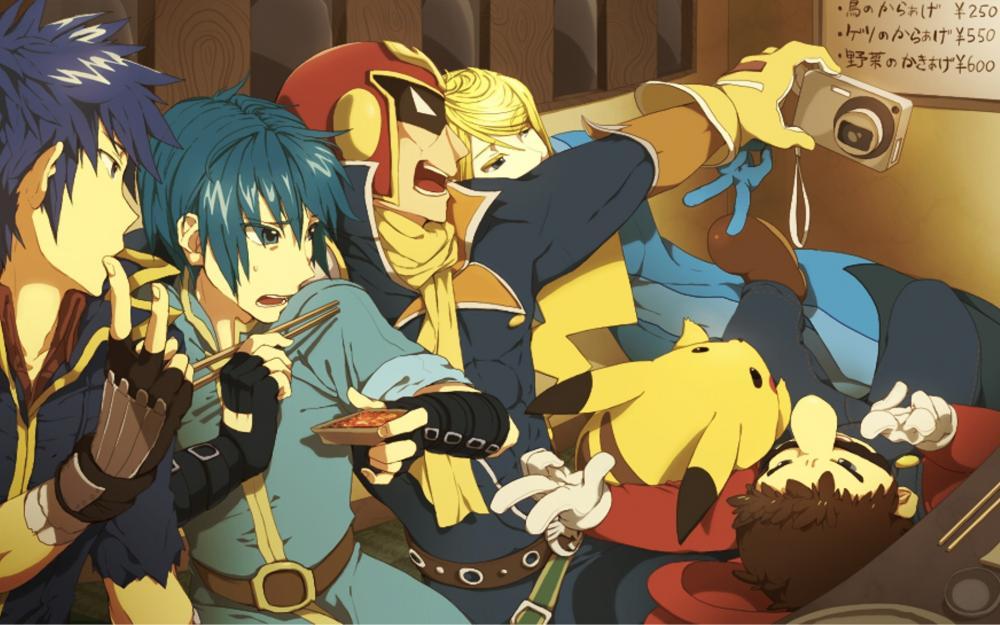 Mario_pikachu_samus_aran_super_smash_bros_captain_falcon_1920x1200.jpg