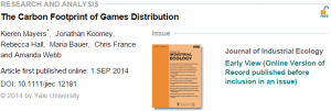 The Carbon Footprint of Games Distribution   Mayers   2014   Journal of Industrial Ecology   Wiley Online Library