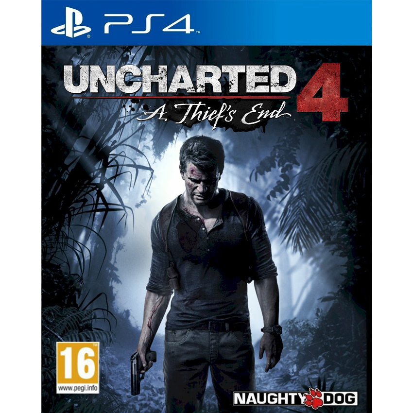 Uncharted 4: A Thief's End jaquette