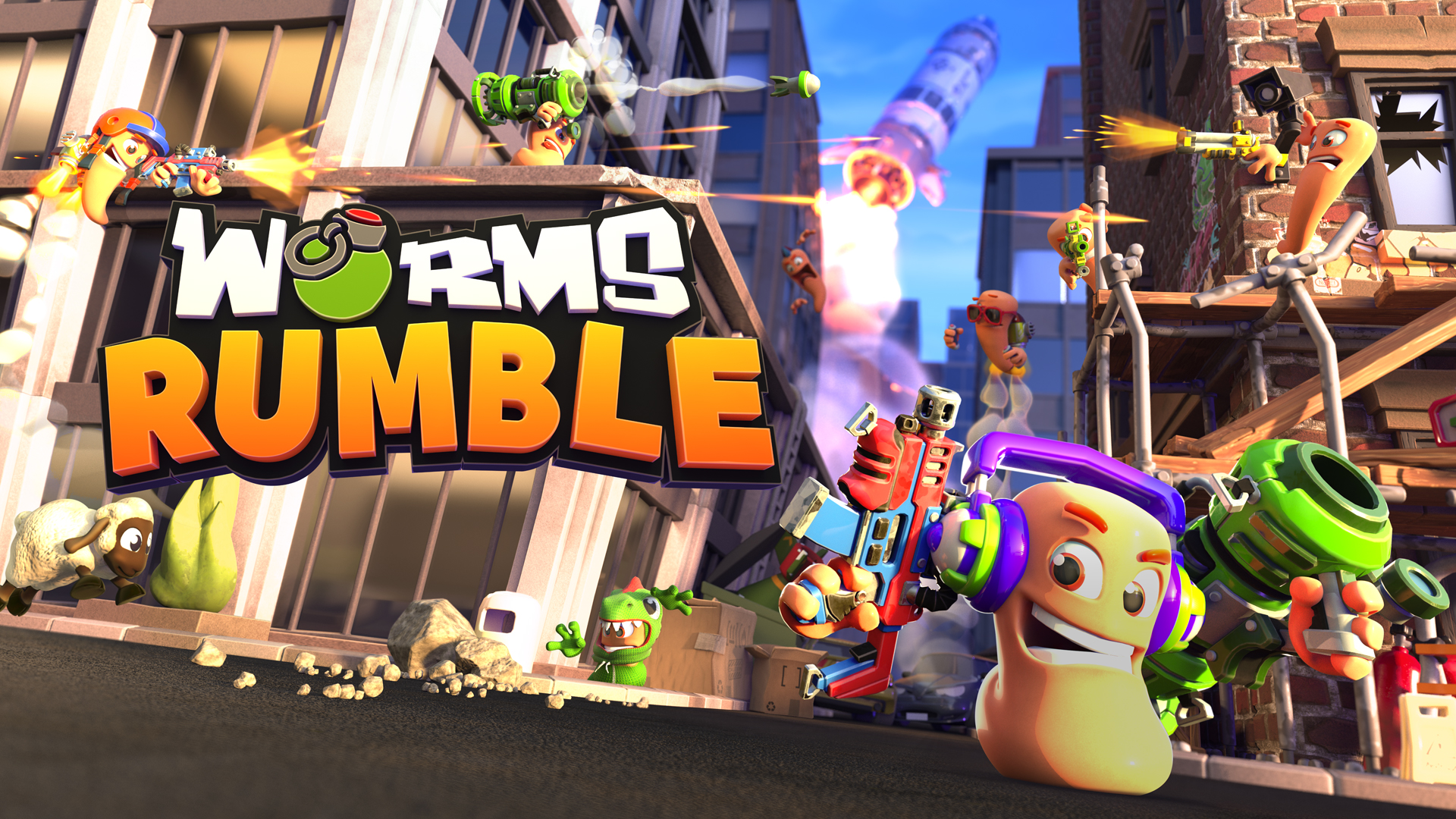 Worms Rumble jaquette