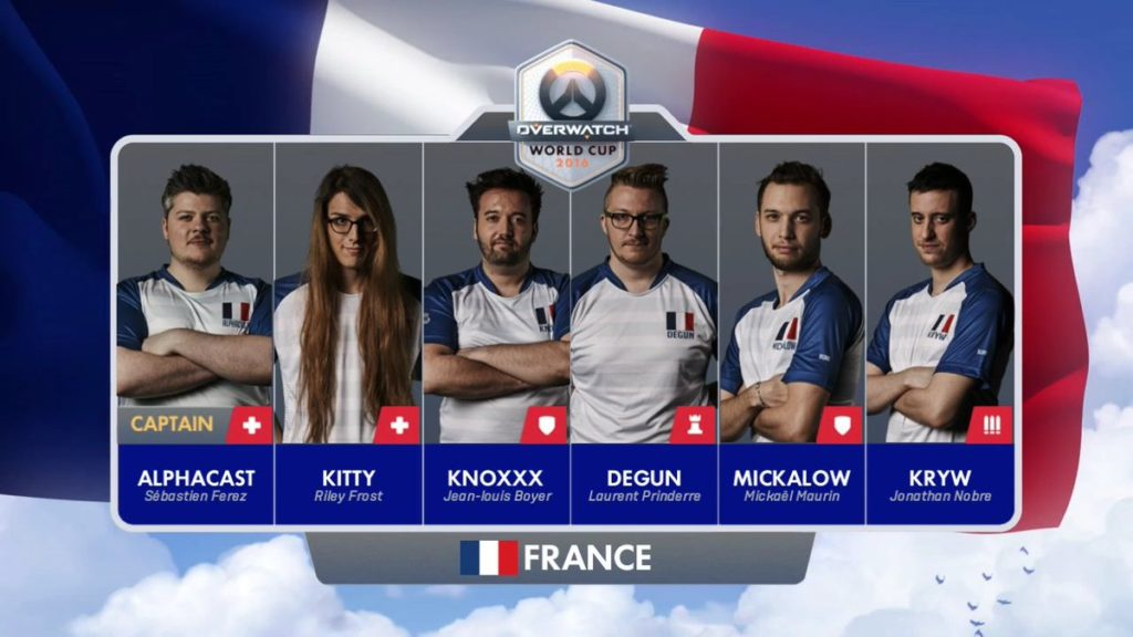 Team France de la World Cup Overwatch.
