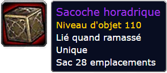 world of warcraft sacoche horadrique