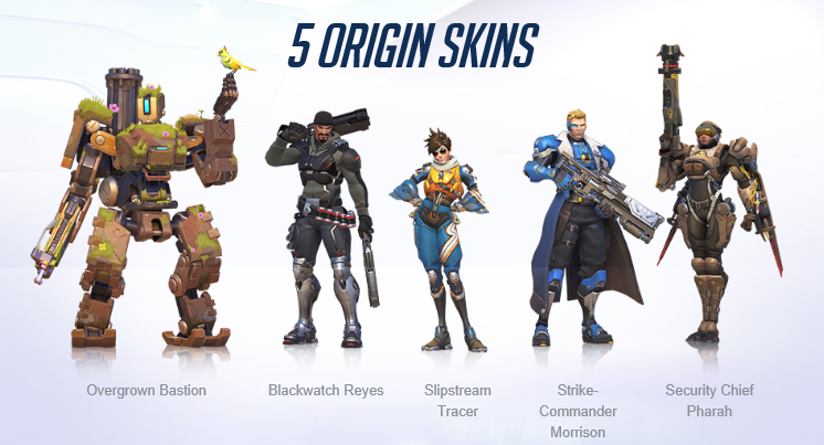 Overwatch skins édition origins