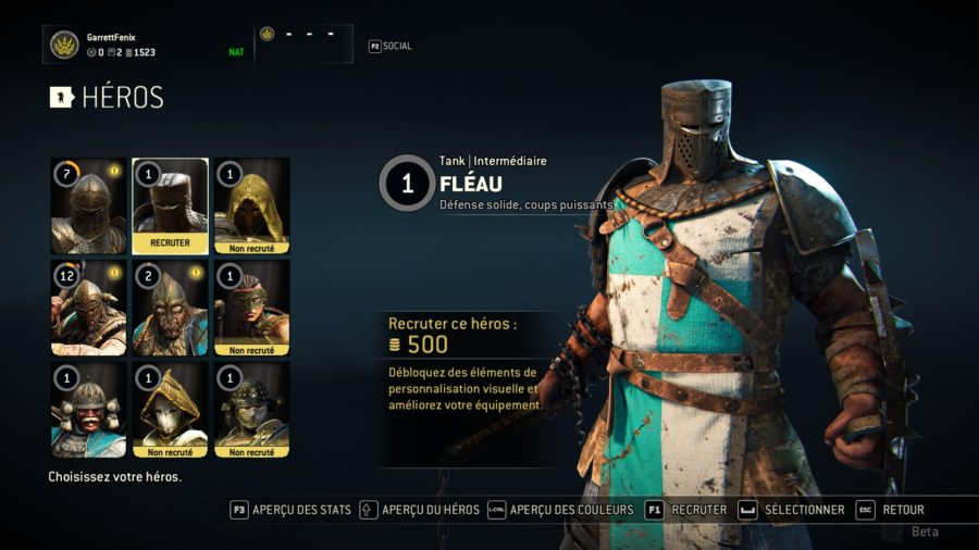 For Honor personnage