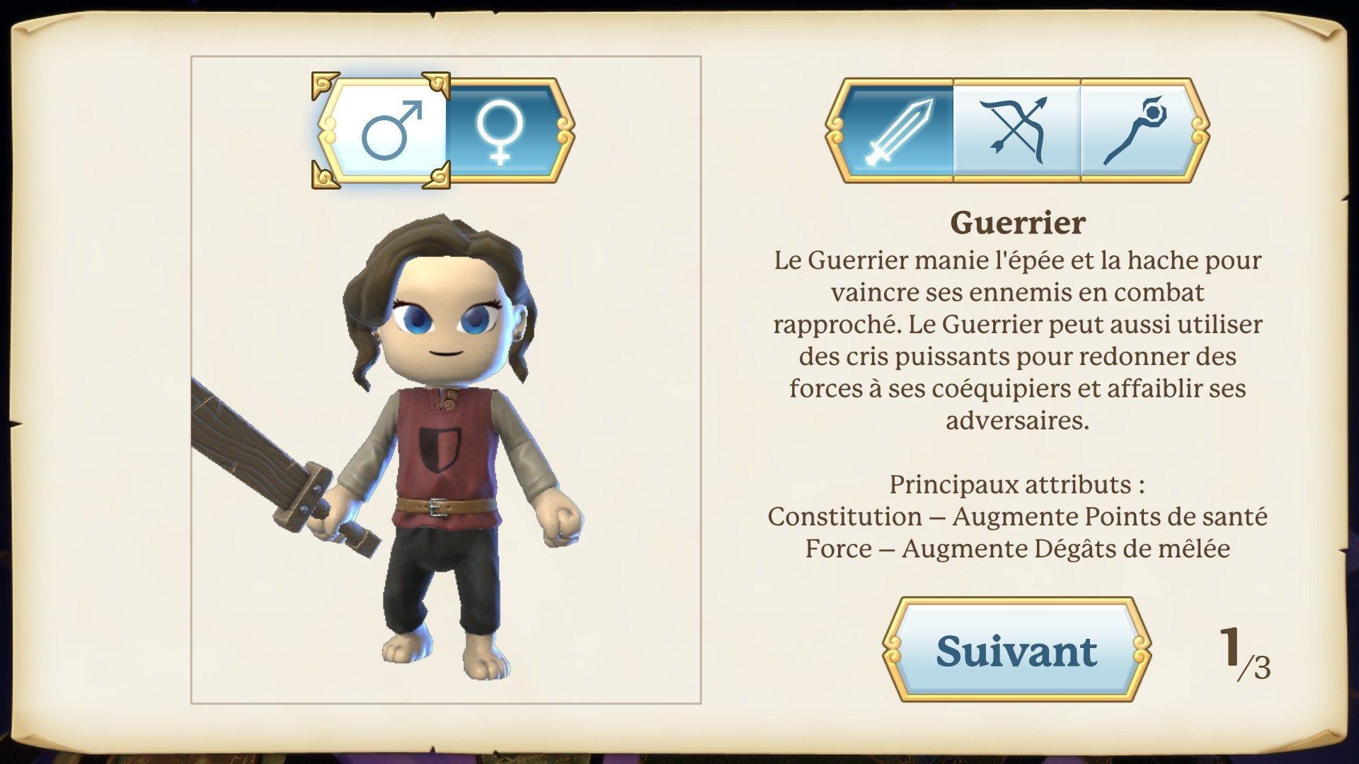 Portal Knights astuces classe guerrier