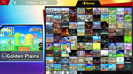 Super Smash Bros Ultimate - 103 stages disponible dès le début