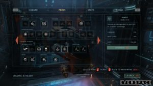 EVERSPACE - equipements systeme
