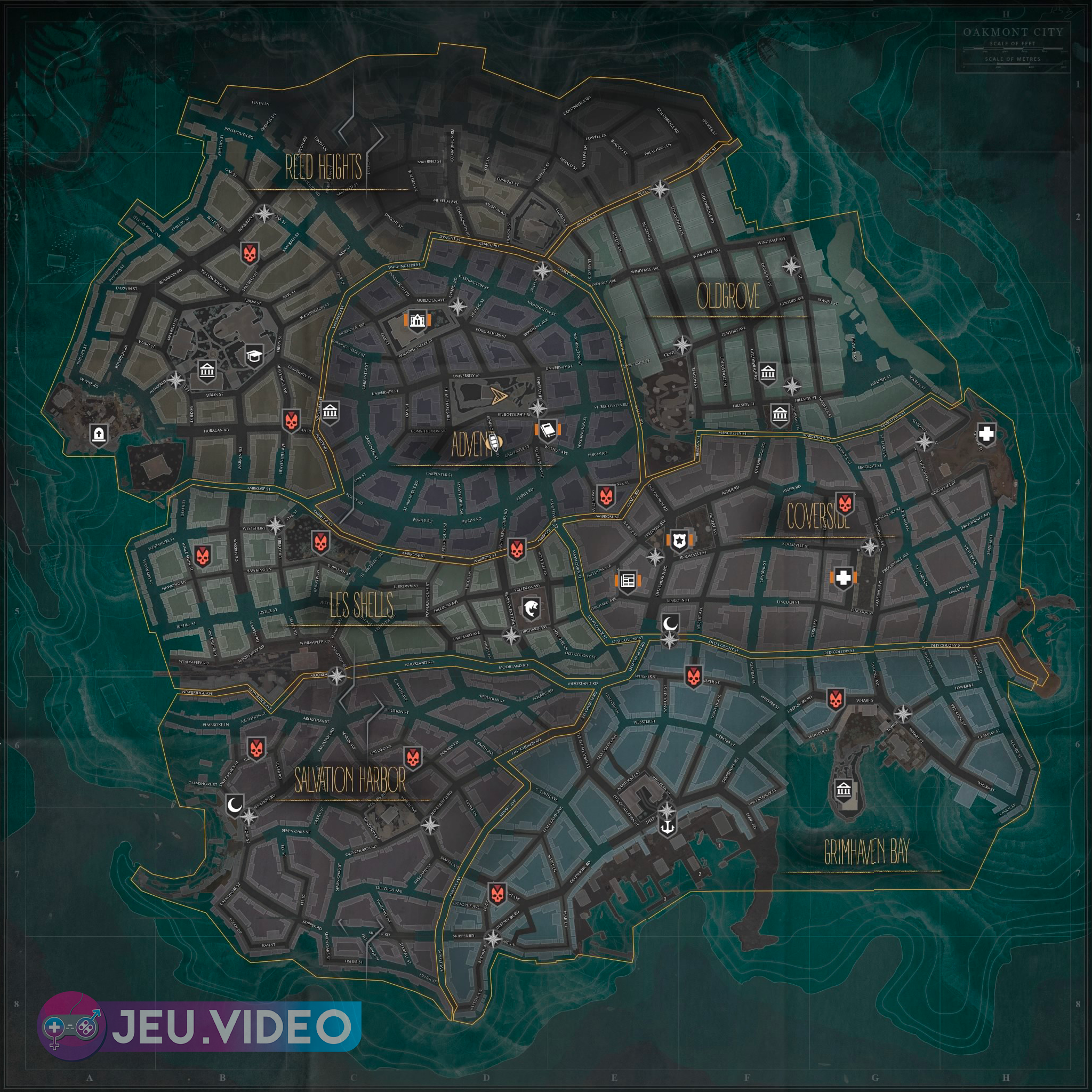 The Sinking City - carte voyage rapide