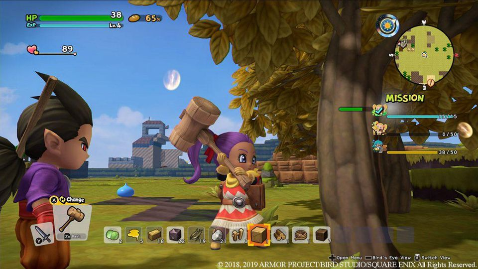 Dragon Quest Builders 2 - Quickie - Stocker son matériel