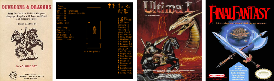 Le jeu de rôle D&D, son adaptation, Ultima et Final Fantasy