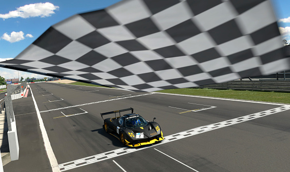NUERBURG, GERMANY - JUNE 20: (Editors note: This image was computer generated in-game) Cody Nikola Latkovski (Nik_Makozi) of Australia takes the chequered flag in the Oceania region Top 16 Superstars Round 4 of the FIA Gran Turismo Championship 2020 at Nuerburgring on June 20, 2020 in Nuerburg, Germany. (NOTE TO USER - Gran Turismo Sport: TM & © 2017 Sony Interactive Entertainment Inc. Developed by Polyphony Digital Inc. Manufacturers, cars, names, brands and associated imagery featured in this game in some cases include trademarks and/or copyrighted materials of their respective owners. All rights reserved). (Photo by Clive Rose - Gran Turismo/Gran Turismo via Getty Images)