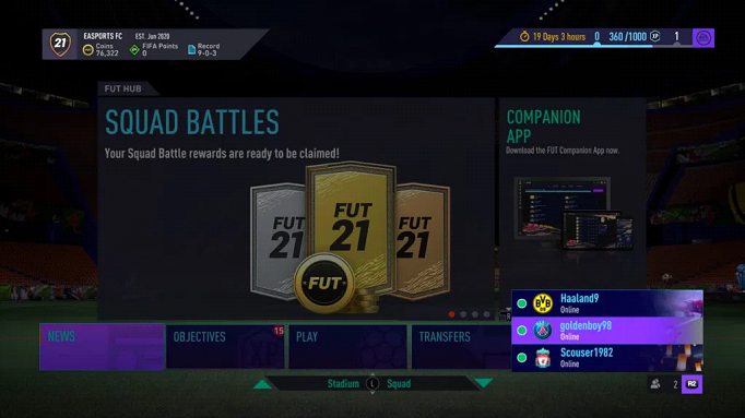 Nouvelle interface Ultimate Team