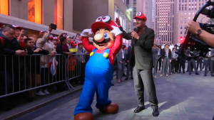 Annonce du documentaire Playing with Power: The Nintendo Story : Regis fils-aimé et Mario