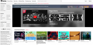 Itch.io frontpage